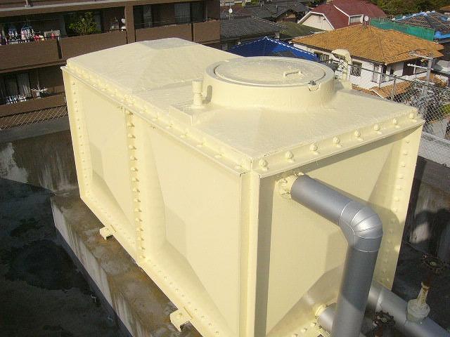 高架水槽 塗装 後
