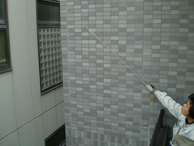 湿式壁打診調査