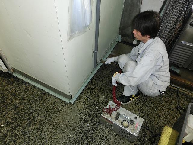 工場 冷蔵庫下 ノミバエ対策