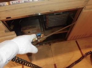 ホールカウンター ネタケース熱源部に薬剤処理